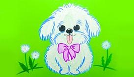 Рисуем собак и щенков