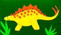 Рисование пластилином: Динозавры