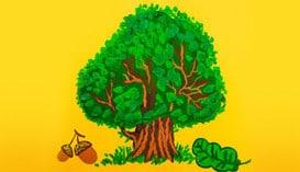 Учимся рисовать природу, деревья и растения