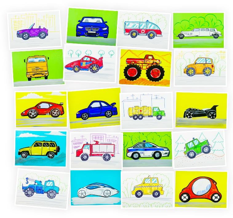 Онлайн-курс лепки для детей «Машинки