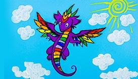 Учимся рисовать Динозавров и Драконов
