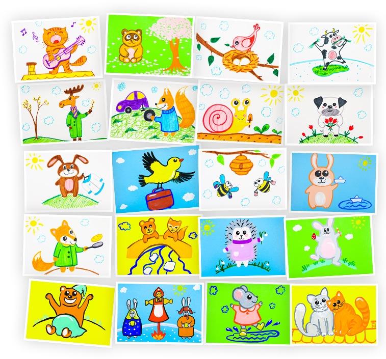 Онлайн-курс рисования для детей Животные Весной SkillBerry