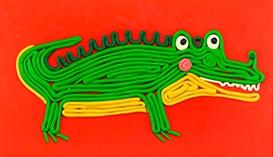 Картины из Пластилина в технике Квиллинг: Животные