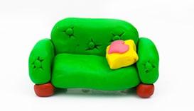 Лепка из Пластилина: Мебель