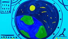 Рисунки и Открытки ко Дню Космонавтики
