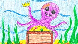 Рисуем Восковыми мелками: Морской мир