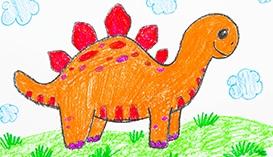 Рисуем Восковыми мелками: Динозавры