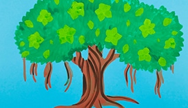 Рисуем Гуашью: Растения и Деревья