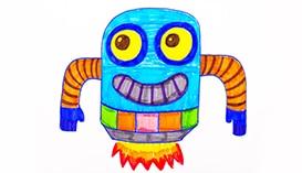 Рисуем Фломастерами: Роботы