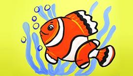 Рисуем Гуашью: Морские Рыбки