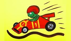 Рисуем Гуашью: Гоночные Машинки