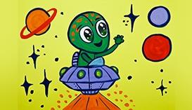 Рисуем Гуашью: Инопланетяне