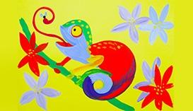 Рисуем Гуашью: Крокодилы, Черепахи и другие Рептилии