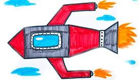 Рисуем Фломастерами: Самолеты, Ракеты, Воздушные Шары