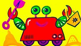Рисуем Гуашью: Роботы