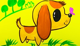 Рисуем Гуашью: Собачки и Щенки