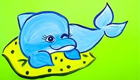 Рисуем Гуашью: Киты и Дельфины