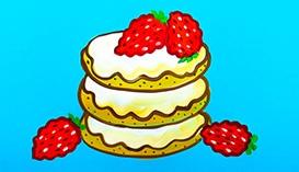 Рисуем Гуашью: Торты и Пирожные