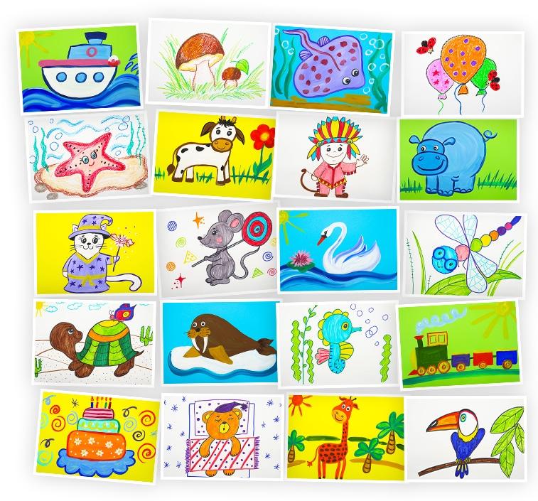 Онлайн-курс рисования для детей «Рисование для детей 3-8 лет. Набор №7» SkillBerry