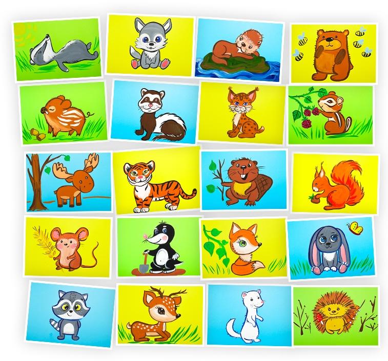 Онлайн-курс для детей Рисуем Гуашью: Лесные Животные Skillberry