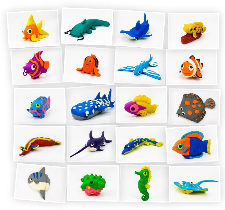 Онлайн-курс для детей «Лепка из Пластилина: Рыбки» SkillBerry