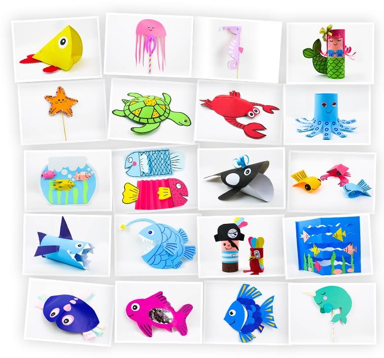 Онлайн-курс для детей «Поделки из бумаги и картона: Подводный мир» SkillBerry