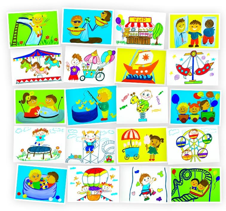 Онлайн-курс рисования для детей «Парк развлечений» SkillBerry