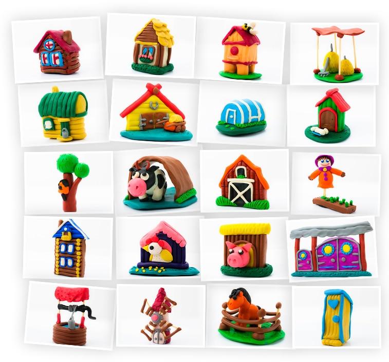 Онлайн-курс для детей «Лепка из Пластилина: Сельские Объекты» SkillBerry