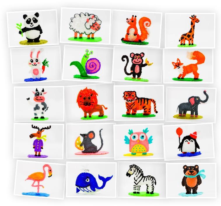 Онлайн-курс для детей «Поделки 3D-ручкой: Животные» SkillBerry