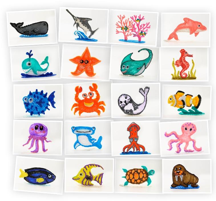 Онлайн-курс для детей «Поделки 3D-ручкой: Морской мир» SkillBerry