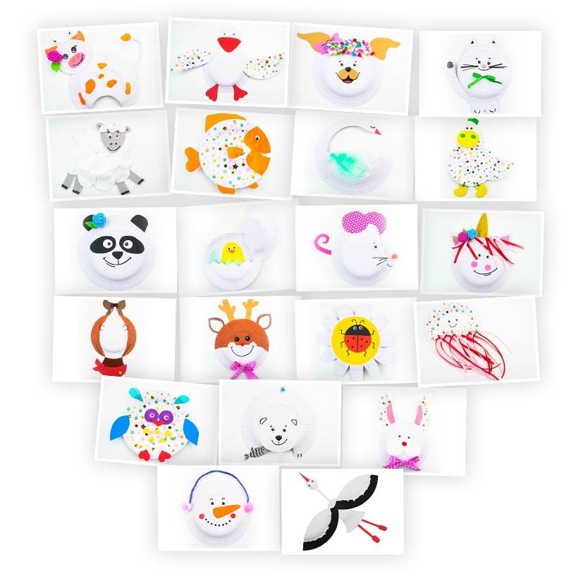 Онлайн-курс для детей «Поделки из Тарелок: Животные» SkillBerry