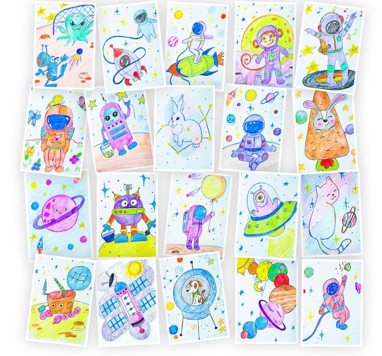 Онлайн-курс для детей Рисуем Карандашами: Космос Skillberry