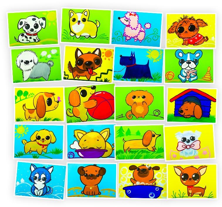 Онлайн-курс для детей Рисуем Гуашью: Собачки и Щенки Skillberry