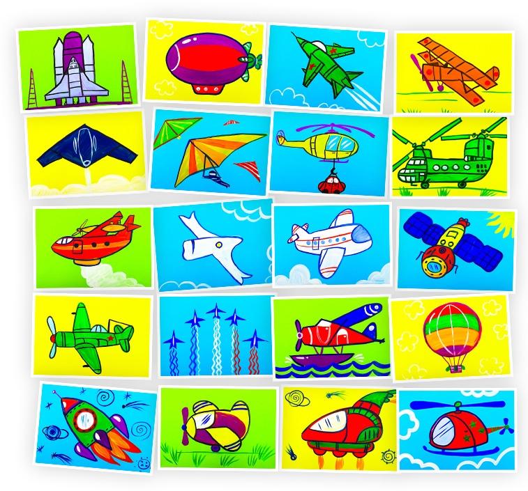Онлайн-курс для детей Рисуем Гуашью: Самолеты, Ракеты, Воздушные Шары Skillberry