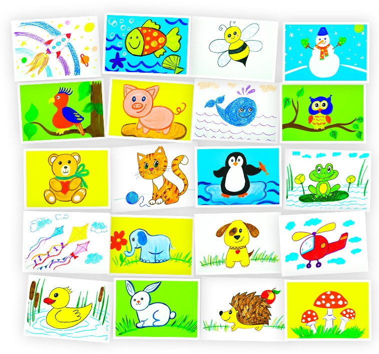 Онлайн-курс рисования для детей «Рисование для детей 3-8 лет. Набор №5» SkillBerry