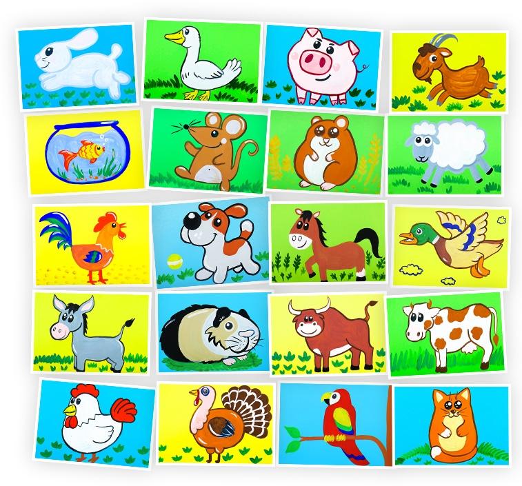 Онлайн-курс для детей Рисуем Гуашью: Домашние Животные Skillberry