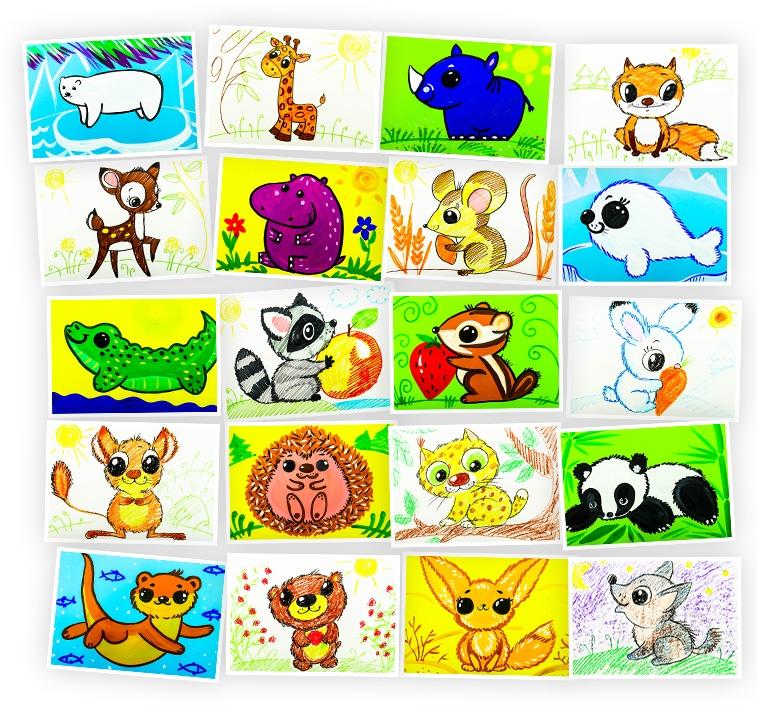 Онлайн-курс рисования для детей «Учимся рисовать Диких Животных» SkillBerry