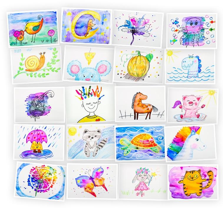 Онлайн-курс рисования для детей «Рисование для детей 3-10 лет. Набор №8» SkillBerry
