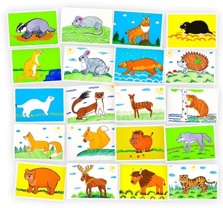 Онлайн-курс рисования для детей «Животные в Лесу» SkillBerry