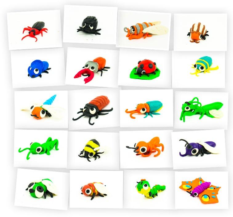 Онлайн-курс для детей «Лепка из Пластилина: Насекомые» SkillBerry